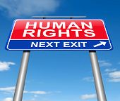 pic of human rights  - Illustration depicting a sign with a Human Rights concept - JPG
