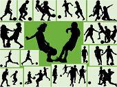 Football Wallpaper kids silhouette.eps