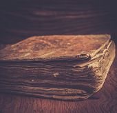 Vintage book on a wooden background