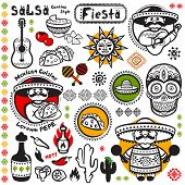 picture of mexican fiesta  - Set of Mexican vector symbols for your business - JPG