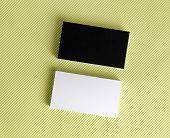 Blank Black And White Business Cards