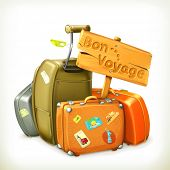 Traveling icon, vector illustration