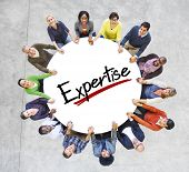 People Holding Hands Community Expertise Proficiency Intelligence Concepts