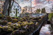 stock photo of water-mill  - Ulva Kvarn water mill located near Uppsala Sweden - JPG