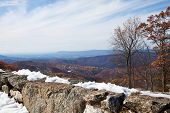 Skyline Drive snow in October