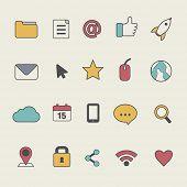 Social Media User Interface Icon Symbol Vector Concept