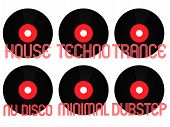 foto of nu  - Vinyls with Different Electronic Music Genres 2 - JPG