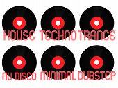 Постер, плакат: Electronic Music Genres Vinyl 2