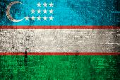 Uzbekistan Flag.