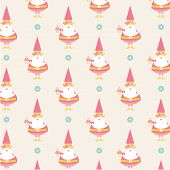 foto of dwarf  - gnome dwarf character vector flat seamless patterns - JPG