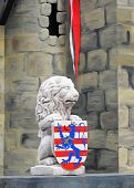 The symbol of Bruges, Belgium, a stone lion