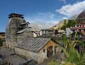 stock photo of shiva  - Ancient temple of Lord Shiva in the Gopeshwar town in Himalaya - JPG
