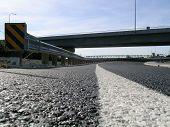 stock photo of burlington  - new road under a new bridge between mount vernon and burlington washington state usa - JPG