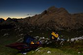 Bivouac In The Mountains