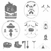 picture of recreate  - Outdoor Recreation Vector Badge Set End Elements - JPG