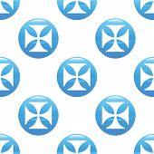 foto of maltese  - Vector round sign with maltese cross - JPG