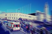 pic of ambulance  - Abstract background - JPG