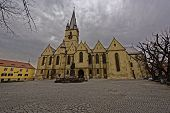stock photo of sibiu  - Evangelical Cathedral Sibiu Romania old medieval architecture - JPG
