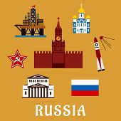 picture of big-rig  - Russian travel icons and symbols with Big Theater - JPG