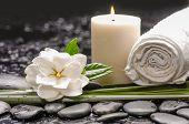 stock photo of gardenia  - spa still life  - JPG