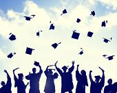 stock photo of graduation  - Celebration Education Graduation Student Success Learning Concept - JPG