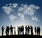 pic of network  - Connection Social Media Internet Link Networking Concept - JPG