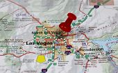 picture of las vegas casino  - map with pin point of las vegas in nevada - JPG