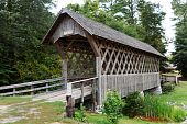 picture of alabama  - Old worn wooden covered bridge in Troy - JPG