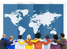 foto of globalization  - World Global Business Cartography Globalization International Concept - JPG